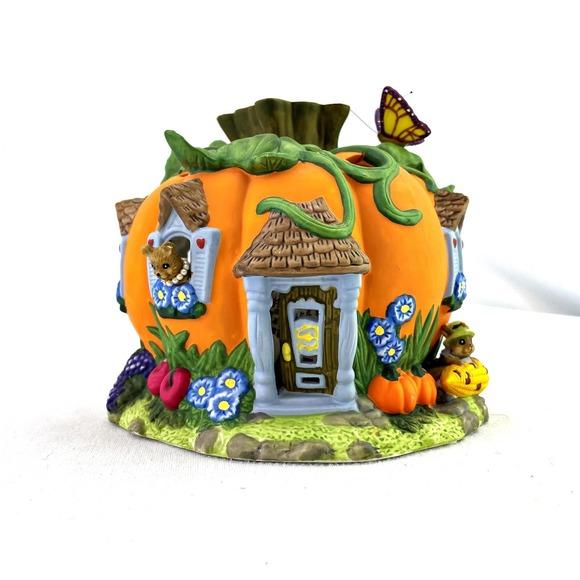 Party Lite Harvest Pumpkin Tea Light House Retired